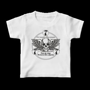 777 ロゴ Tシャツ(キッズ・白・前面)