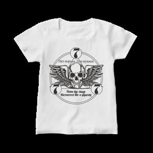 777 ロゴ Tシャツ(レディース・白・前面)