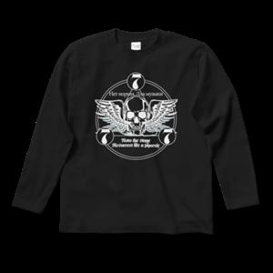 777 ロゴ Tシャツ(黒・前面・長袖)