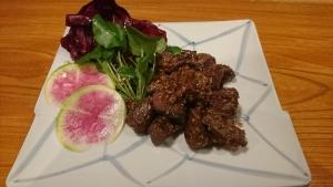モモ肉のソテーマスタードソース和え (みゃあらく)