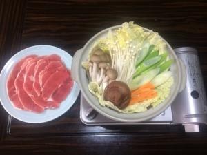 イノシシ鍋(お食事処うえの)