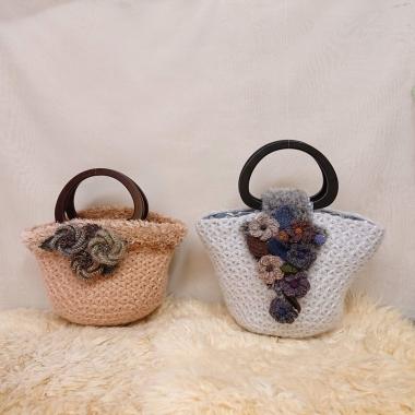 リフ編みバッグ1
