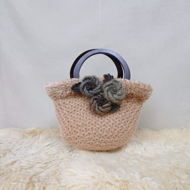 リフ編みバッグ3