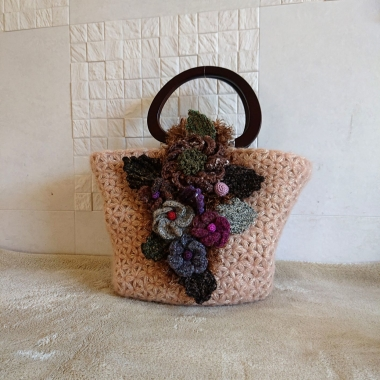 4リフ編みバッグ