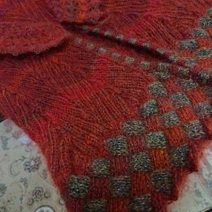 バスケット編みカーデ