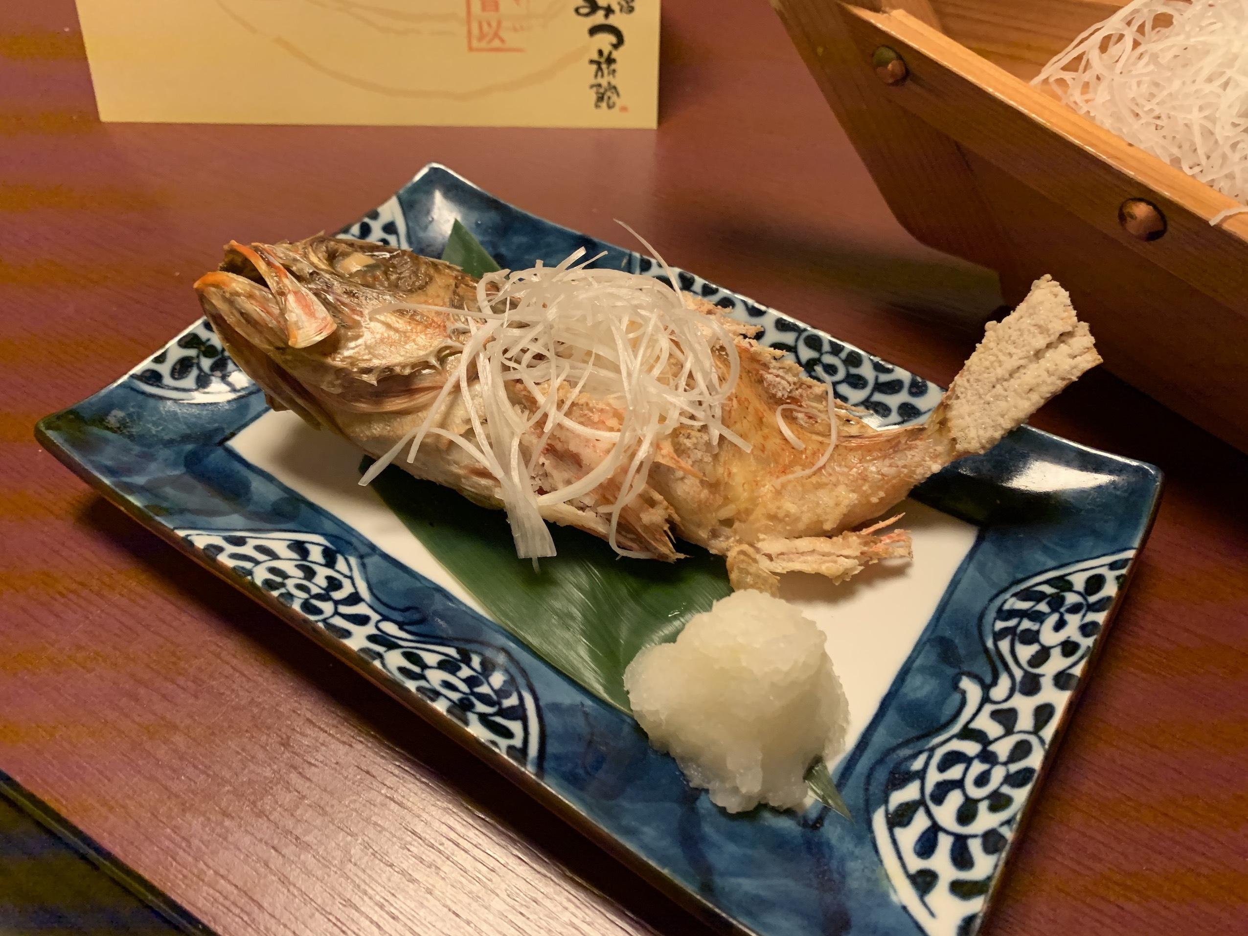 IMG_0010(二日目夕食・あらかぶの塩焼き)