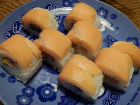 サーモン寿司 (1)