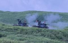 21自走式高射砲が打っているとこ