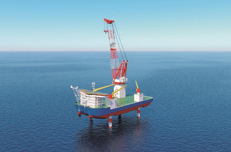 SEP型起重機船建造発表4隻目-1