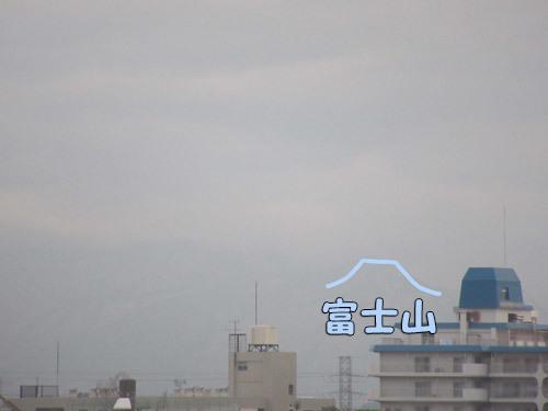 ダイアモンド富士の日なのに曇り空