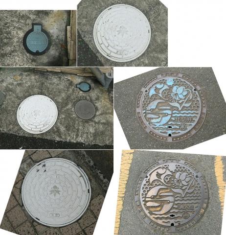 07鎌倉市章入り白い汚水桝と止水栓(連結)0