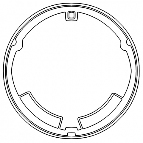 マンホールのデザイン1000(2019)輪郭線