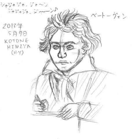 ベートーヴェンの似顔絵