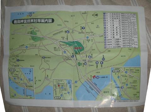 20鹿島神宮の摂社マップ