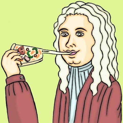 ピザに食らいつくヘンデルその2