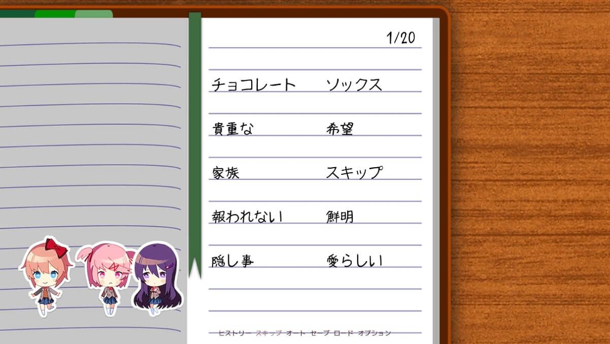 ドキドキ文芸部! doki doki literature club! DDLC 考察 宿題の詩