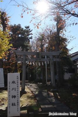 神山氷川神社(東久留米市神宝町)1