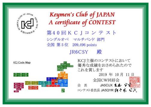 2019年 KCJコンテスト