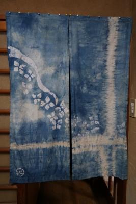 藍染の暖簾