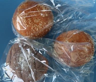 カレーパンと胡桃チョコメロンパン