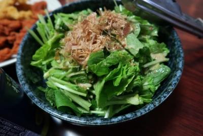 抜き菜のサラダ
