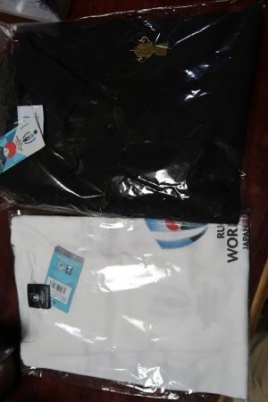 ラグビーWCポロシャツとTシャツ