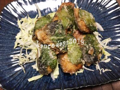 20191208_鯖の竜田揚げ大葉巻き
