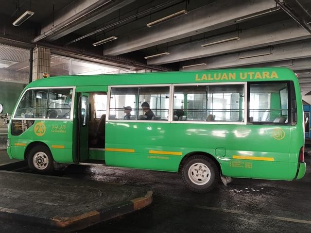 ブルネイ空港行きバス