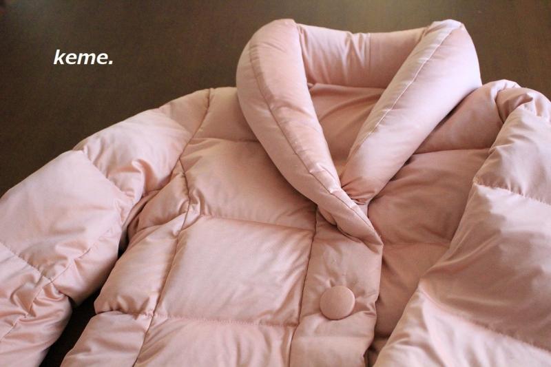 ピンクのダウン