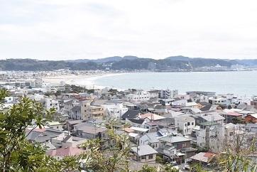 長谷寺より由比ヶ浜を望む202002