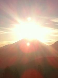 2013年元旦のダイヤモンド富士