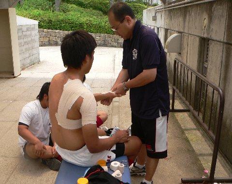 Ⅱ肩脱臼のテーピング