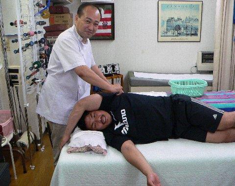 首の治療水山