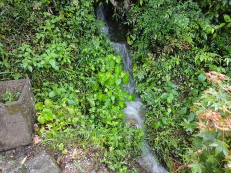 我が家の三段の滝