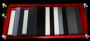 ビデオボックスのビデオテープ