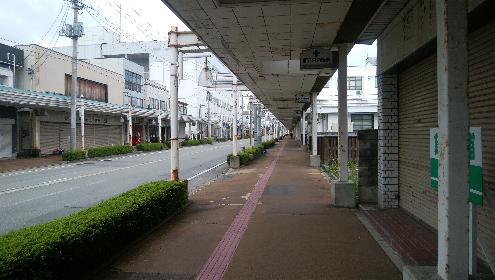 秋の新庄中心商店街