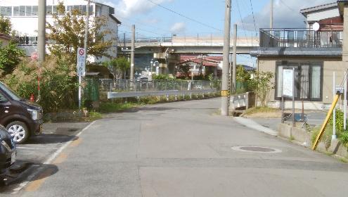 線路で寸断された羽州街道