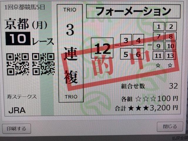 0113・京都10R①