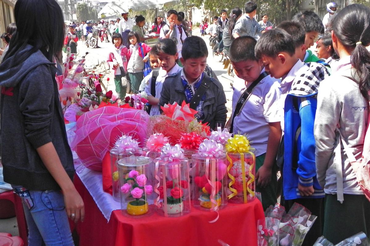 ミャンマーのバレンタインデー