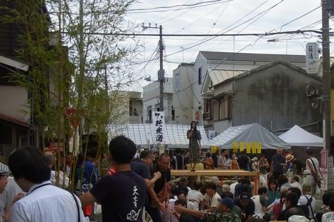 小田原宿場祭り演歌歌手のステージ