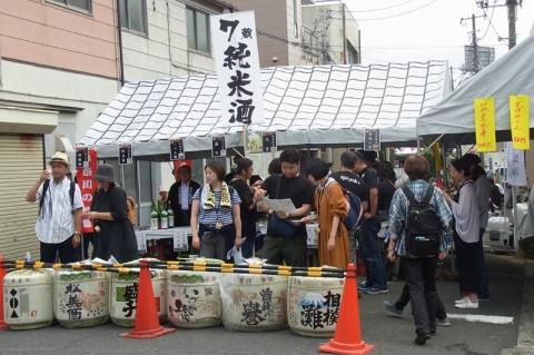 小田原宿場祭りの樽酒