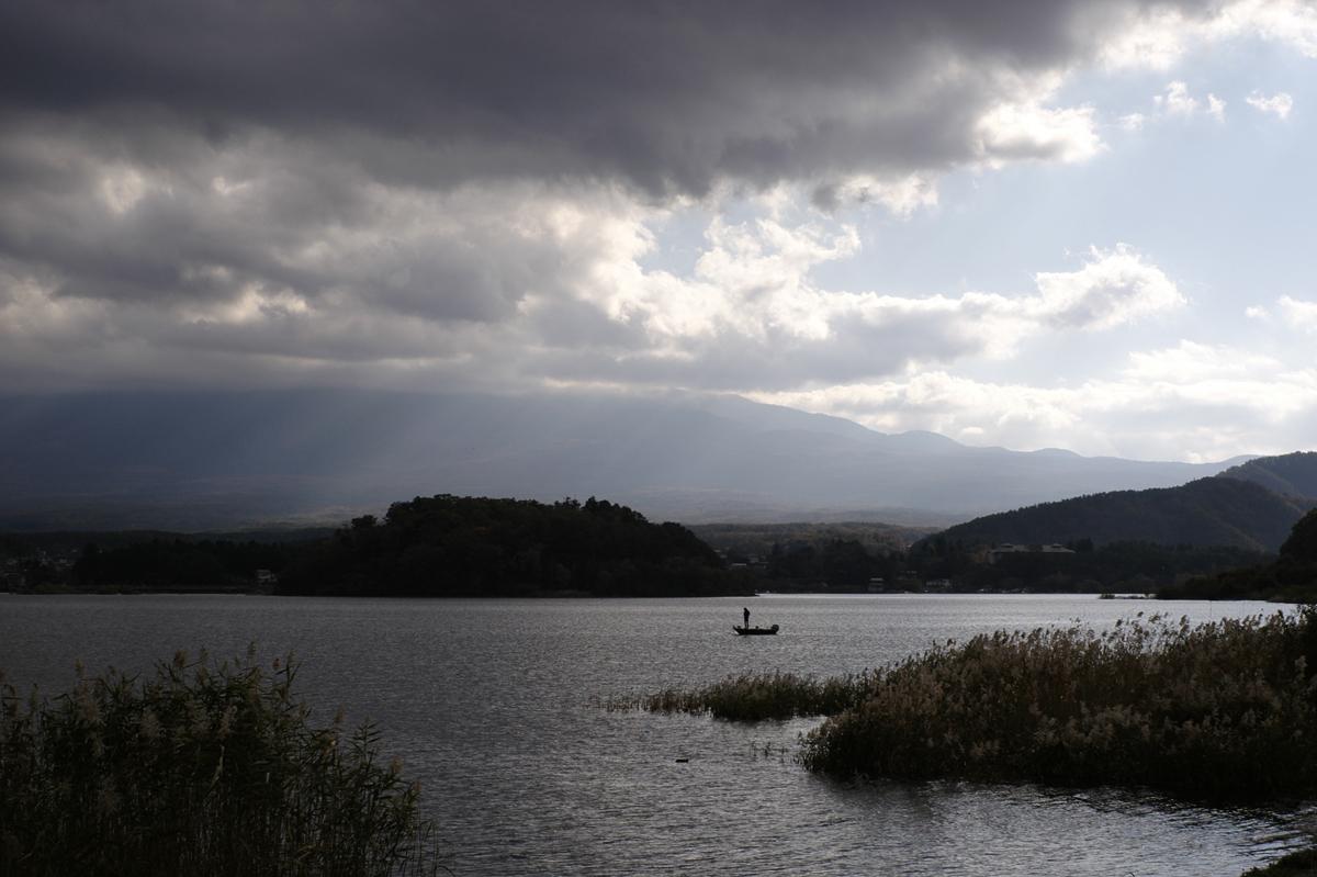 河口湖大石公園より河口湖を望む