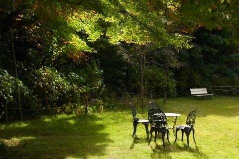 小田原文学館の庭