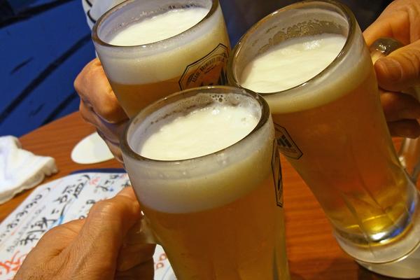 生ビールの乾杯
