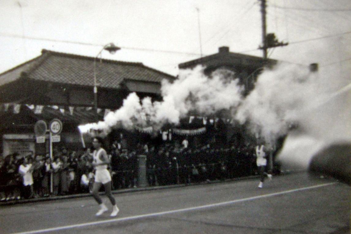 1964年東京五輪の聖火リレー