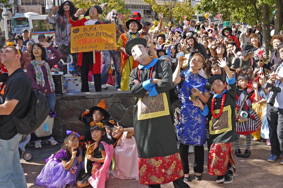 おだわらハロウィンin竹の花2013パレード後の集合写真