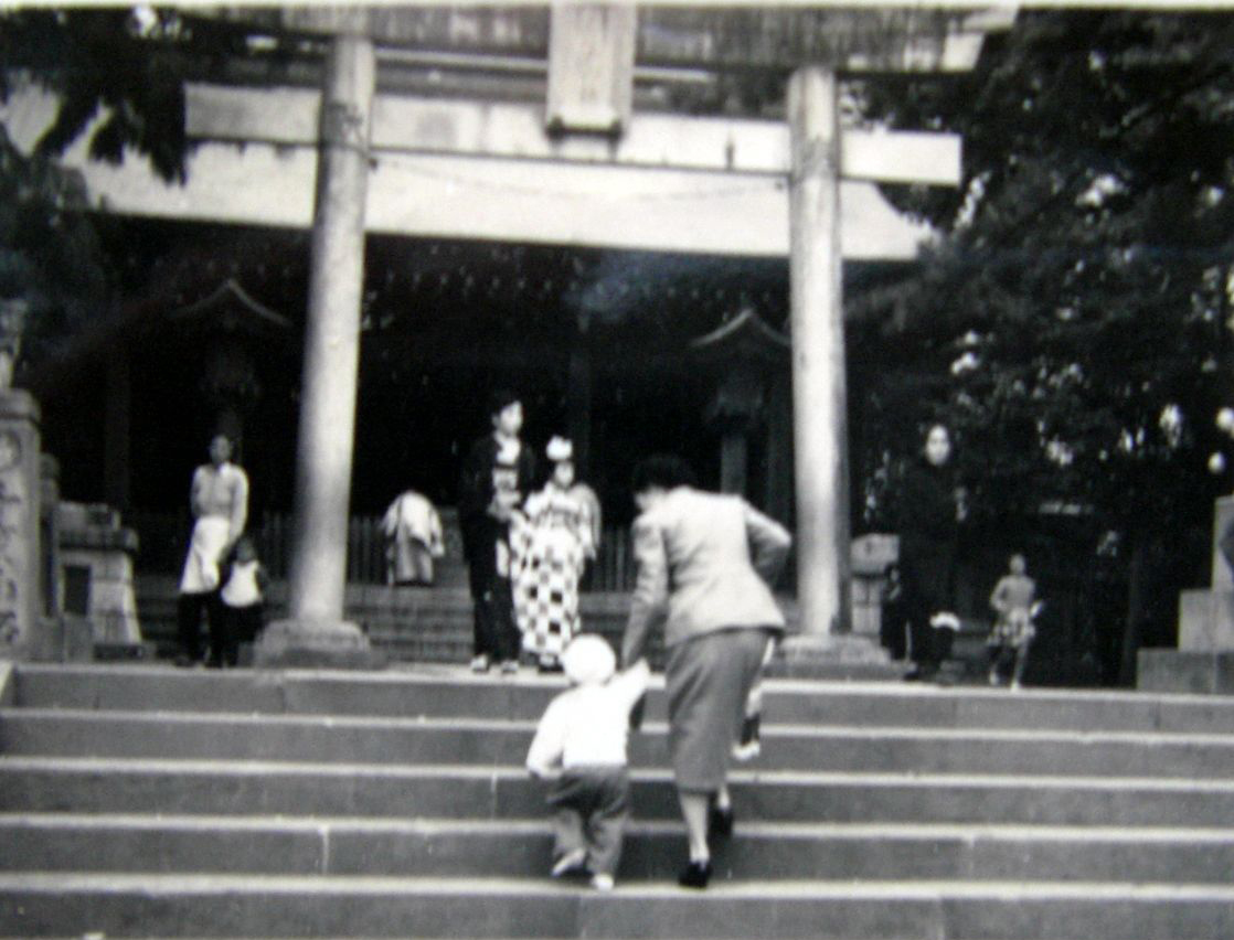 1956年頃の小田原報徳二宮神社七五三