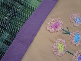 11-06緑色紬とお花02