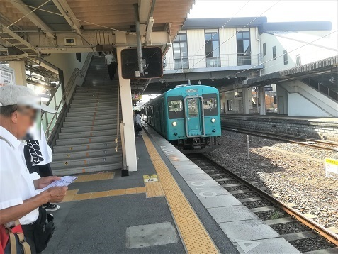 1 大和高田で奈良行きへ乗り換え