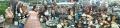 22 タヌキがいっぱい パノラマ写真 大